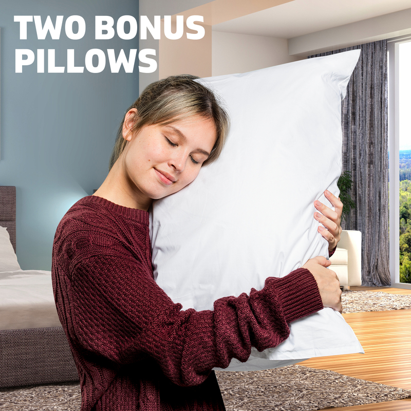 KING Mattress Bed Euro Top 9 Zone Pocket Spring Cool Gel Memory Foam Bamboo 33cm
