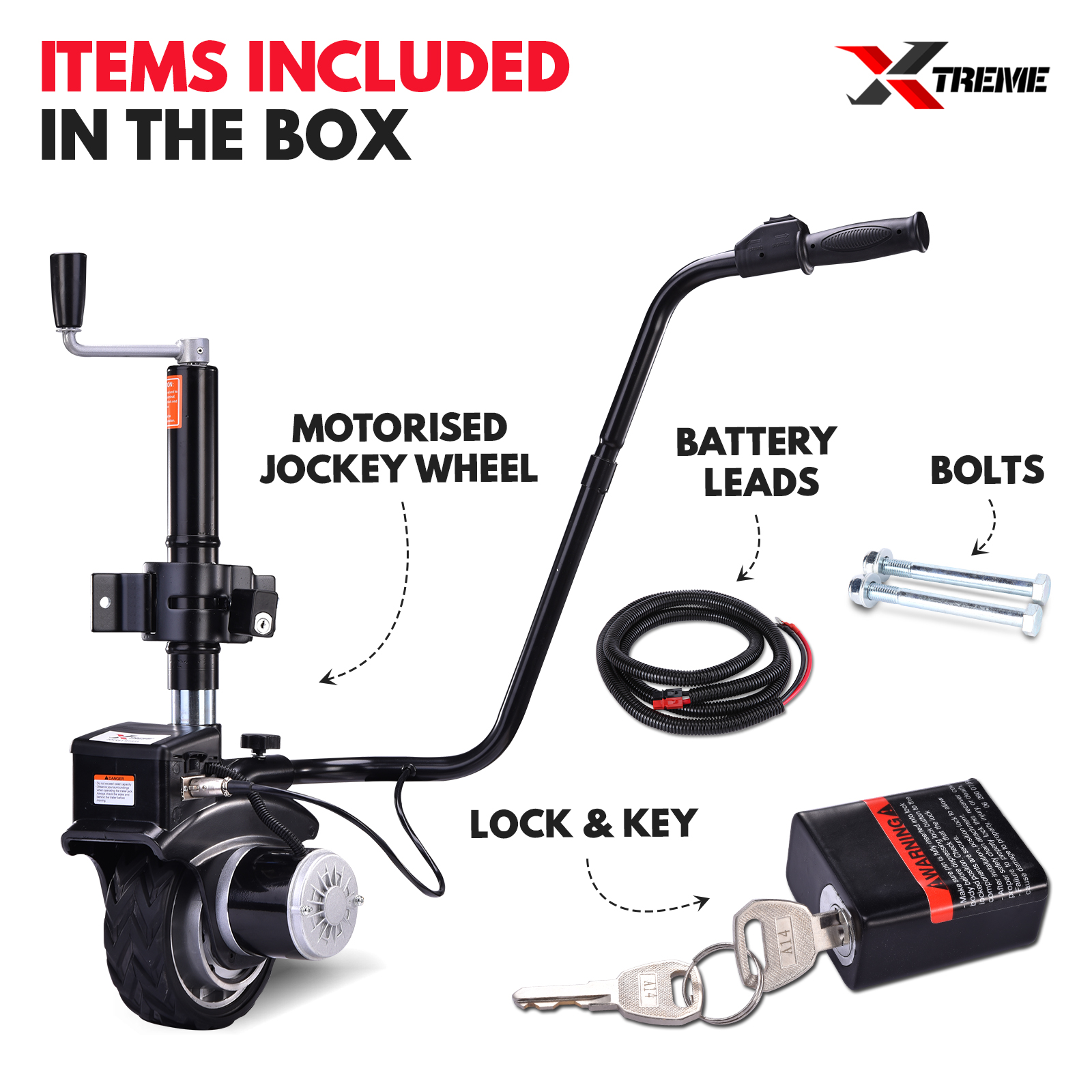 XTREME Motorised Jockey Wheel 12V 350W Electric Power Trailer Mover Caravan B