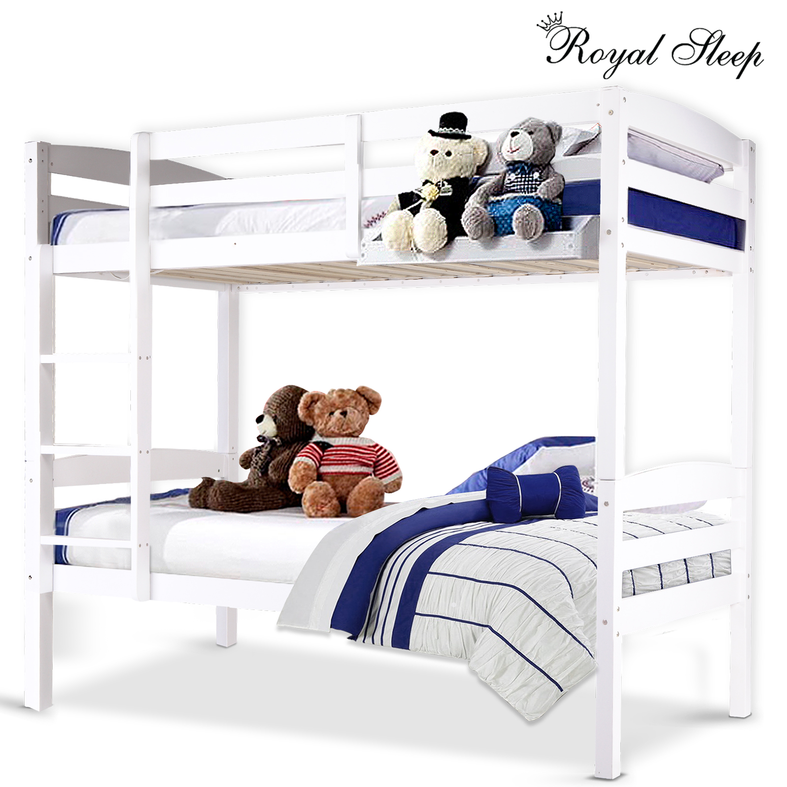 Picture of: 3 In 1 Convertible Bunk Bed Triple Bunk Bed 100 Solid Pine