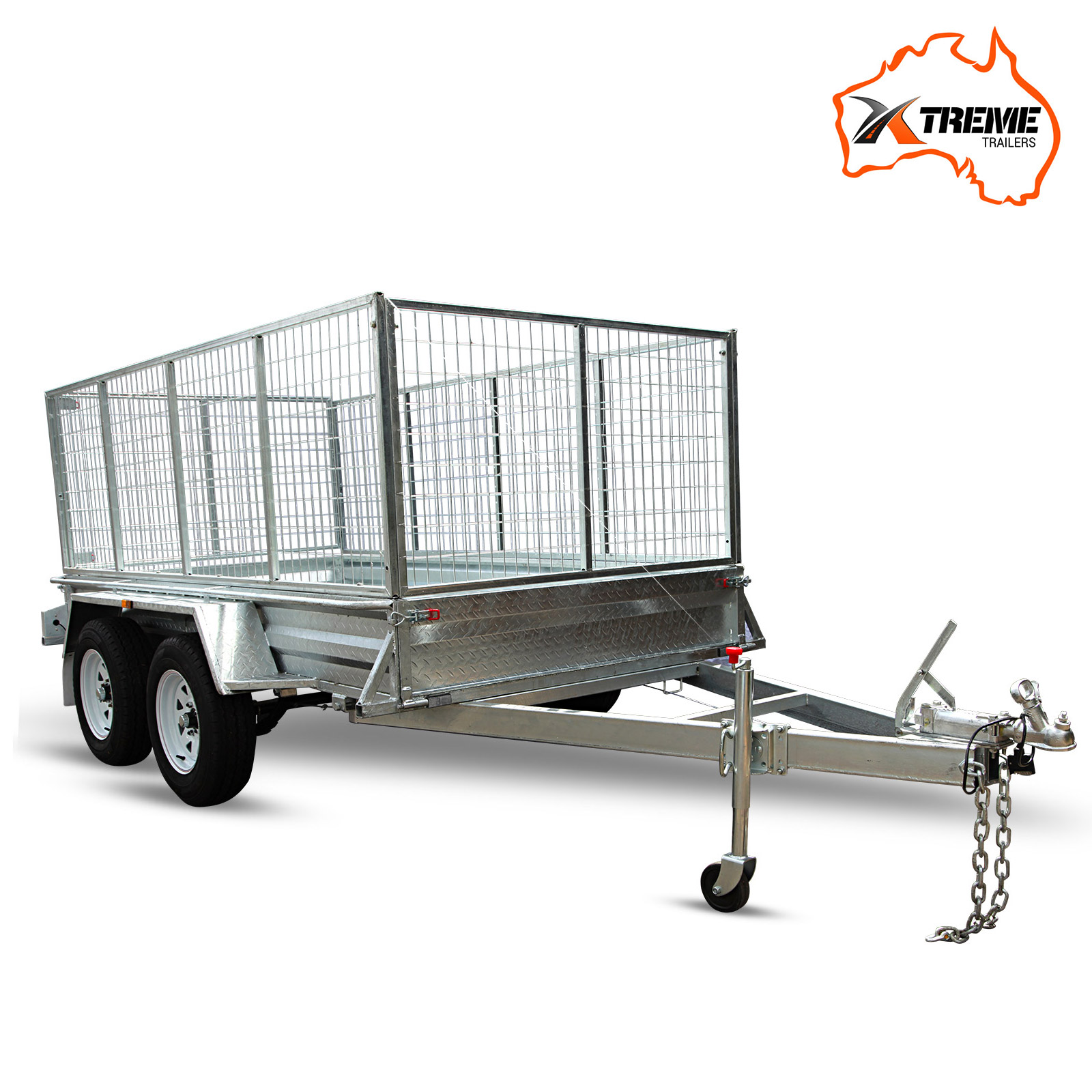 New XTREME 8x6 Tandem Box Trailer 900MM Cage Fully Welded