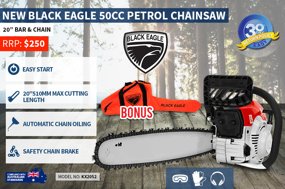 "50cc 20"" Petrol Chainsaw - 2 Strock Engine"