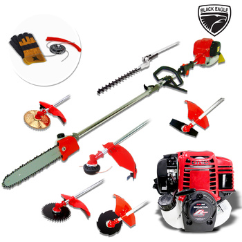 Black Eagle Powered by Honda 7In1 Multi-Tool Brush Cutter