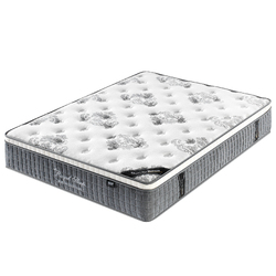 Queen Double King Single Mattress Bed Euro Top 9 Zone Pocket Spring Latex 34cm