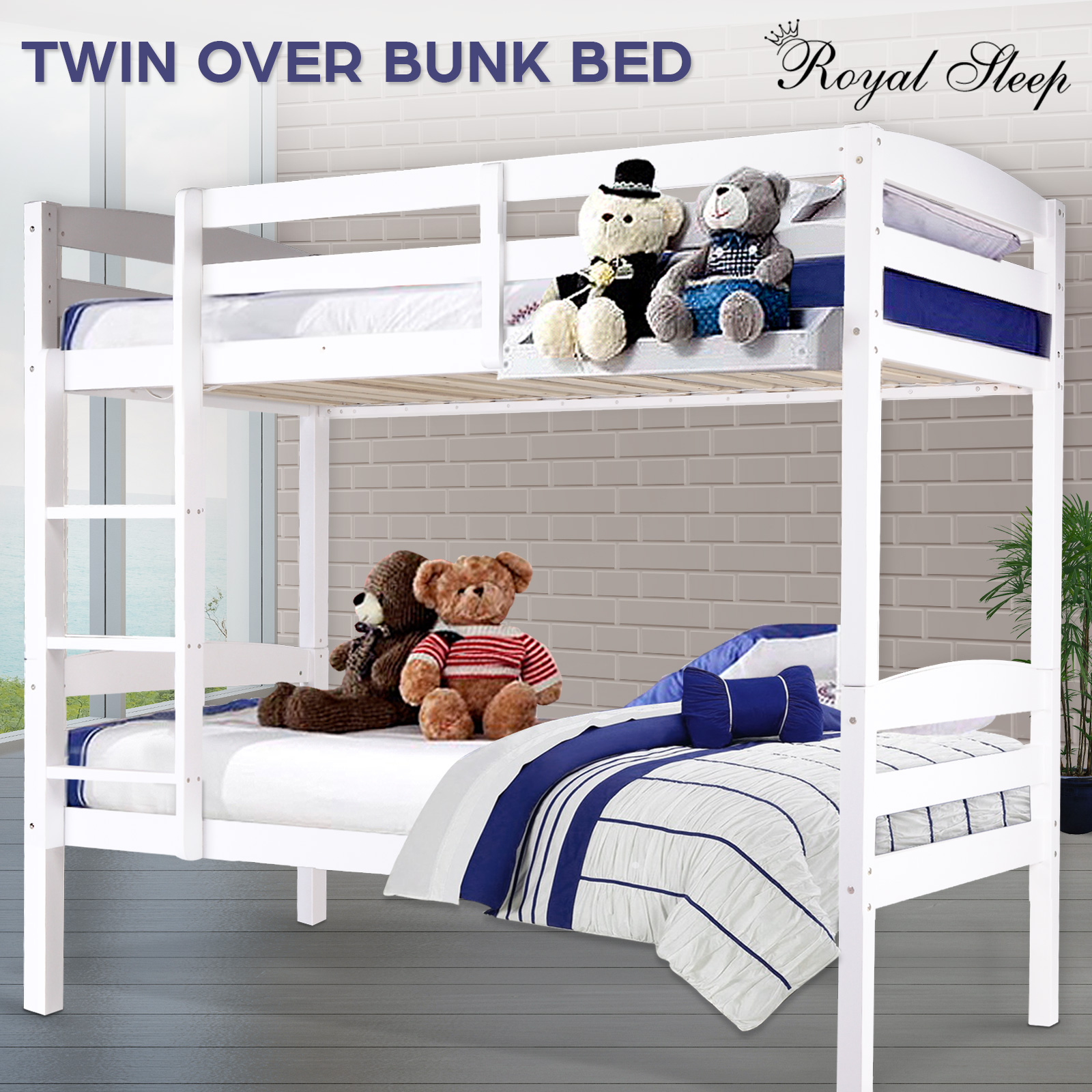 3 In 1 Convertible Bunk Bed Triple Bunk Bed 100 Solid Pine