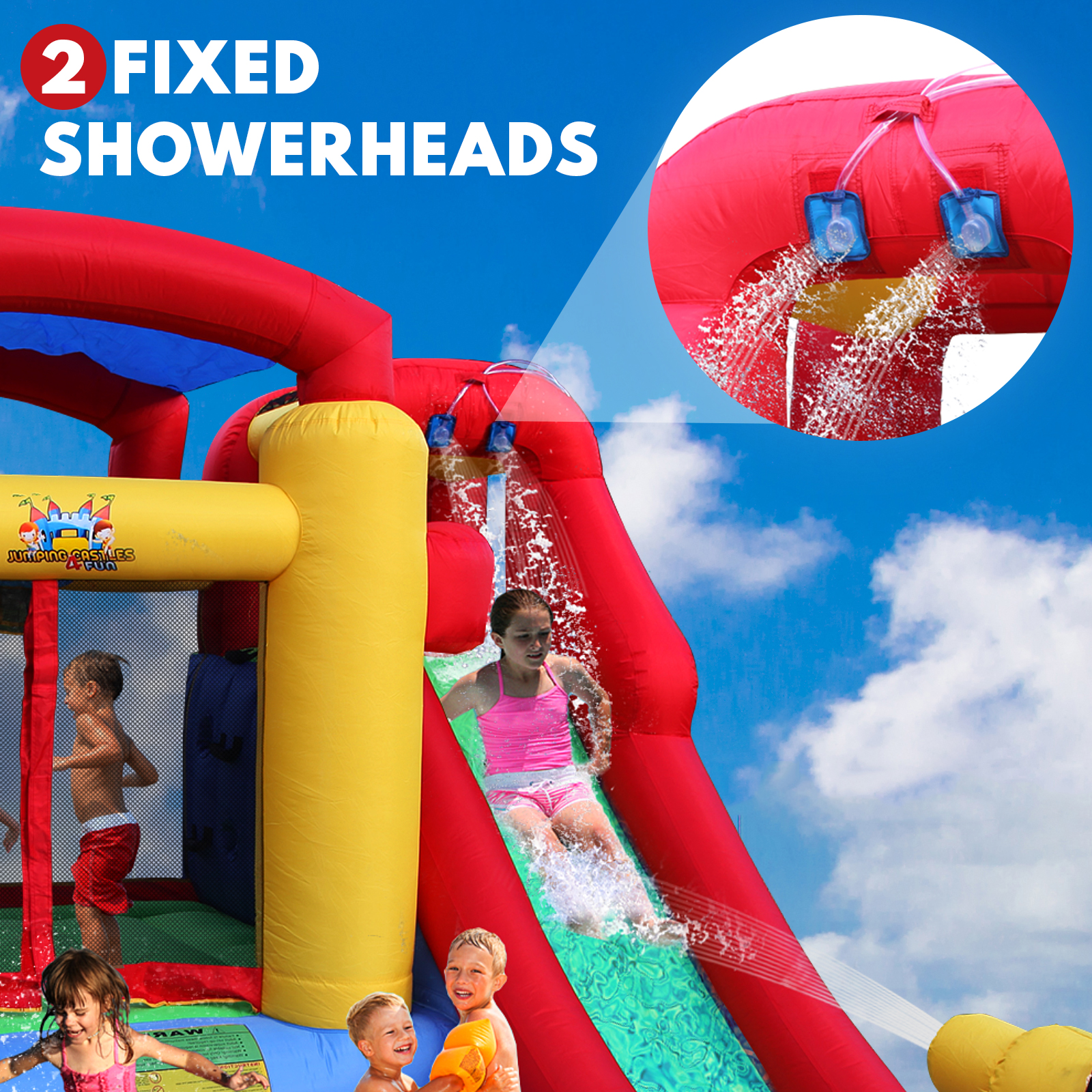 Inflatable Water Slide Jumping Castle Pool Trampoline Kids Splash