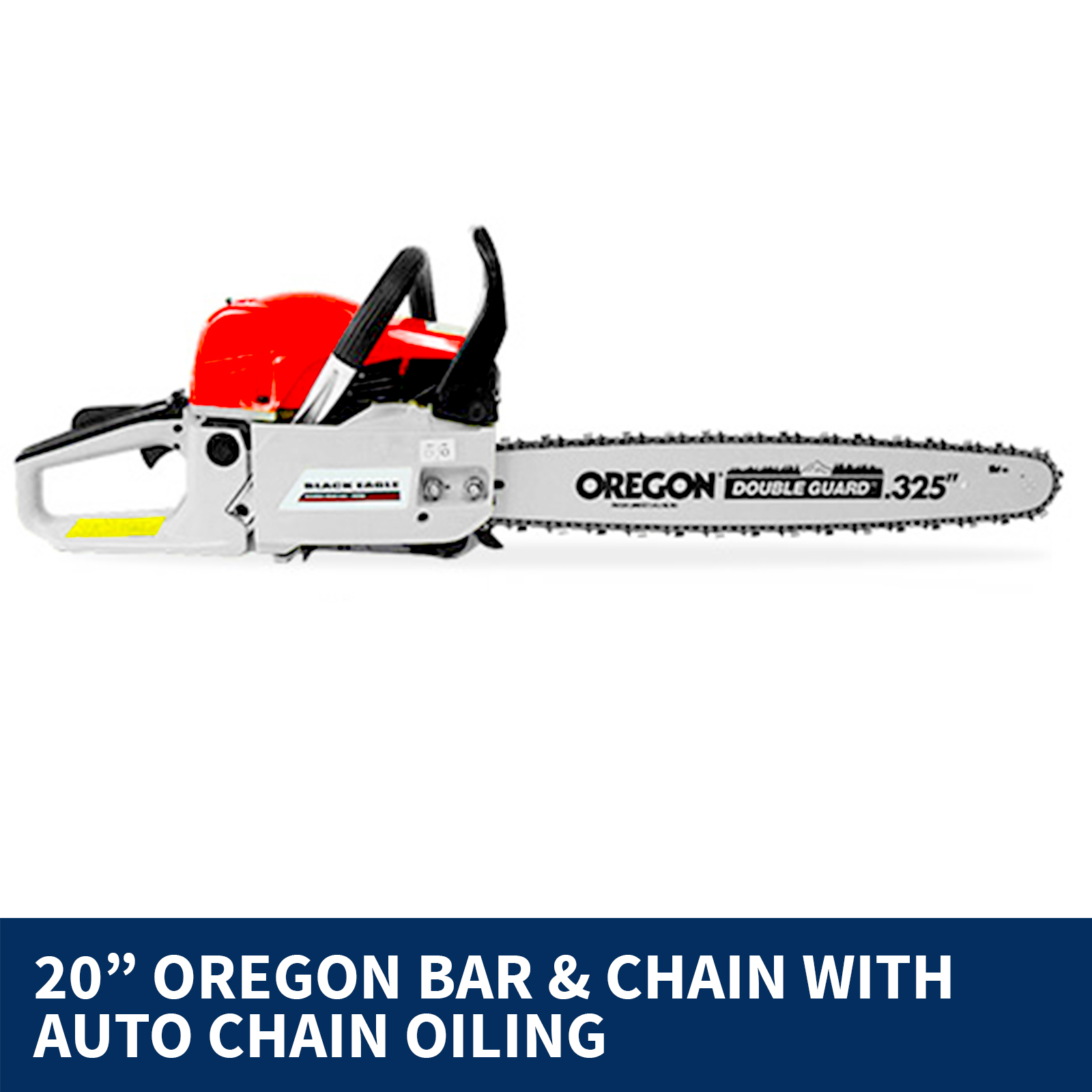 "Black Eagle 20"" OREGON 58cc Commercial Petrol Chainsaw"