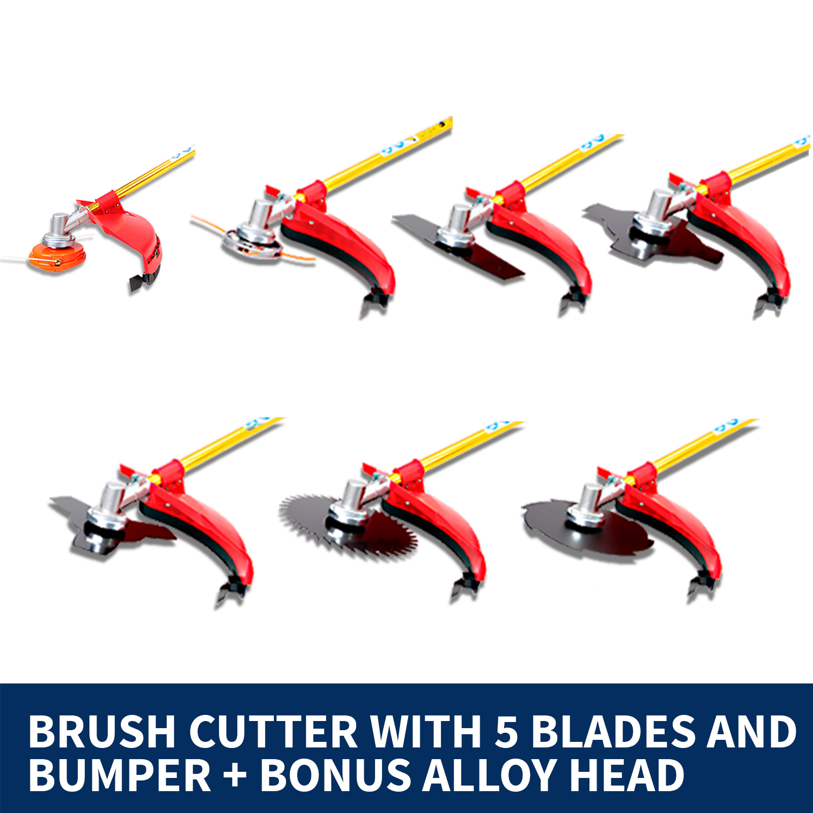 BlackEagle 52cc Petrol Brush Cutter Whipper Snipper Weed Line Trimmer Backpack