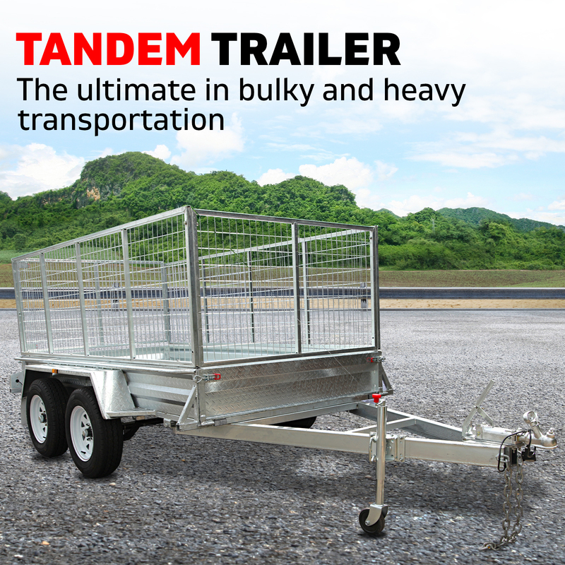 New 8x5 Tandem Axle Trailer with 900 mm Cage from Xtreme Trailers