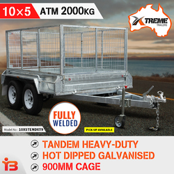 10x5 Tandem Heavy-Duty Fully Welded Box Trailer With 900mm Cage