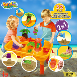 32 pcs Outdoor Sand and Water Children Activity Play Table
