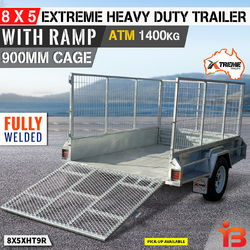 8x5 Hot Dipped Galvanised Box Trailer 900MM Cage