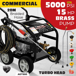 NEW 5000 PSI Petrol High Pressure Washer 15HP Water Blaster Gurney Cleaner