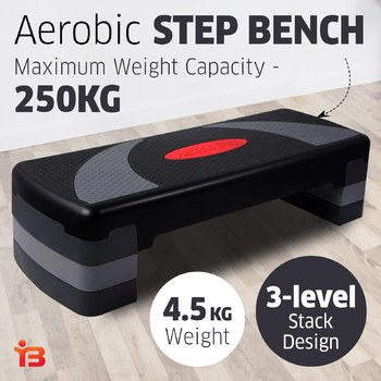 Aerobic Step Bench Everfit Exercise Wide Stepping Platform Workout