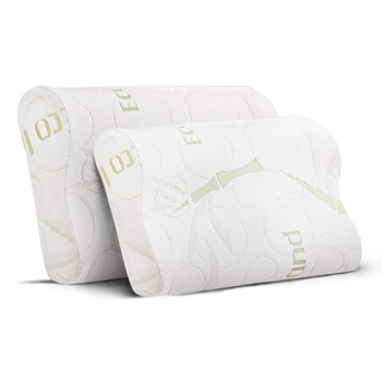 Giselle Bedding Set of 2 Bamboo Pillow with Memory Foam