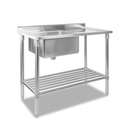 Cefito 100x60cm Commercial Stainless Steel Sink Kitchen Bench