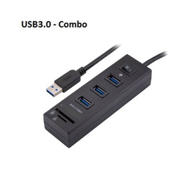 USB3.0 HUB 3 Port with Switch + card Reader