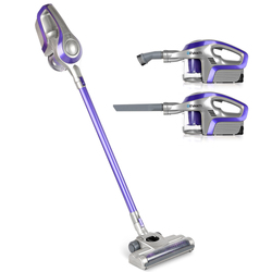 Devanti Cordless Stick Vacuum Cleaner - Purple & Grey