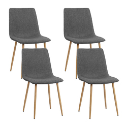 Artiss 4X Collins Dining Chairs - Dark Grey