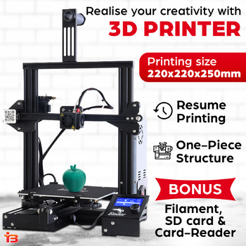 Creality 3D 220*220*250mm Ender 3 3D Printer Resume Printing High Precision
