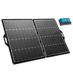 ATEM POWER 200W 12V Portable Folding Solar Panel Blanket Kit Mono Camping