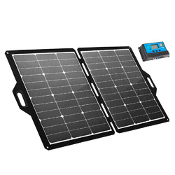 ATEM POWER 12V 120W Folding Solar Panel Blanket Kit Mono Camping Caravan