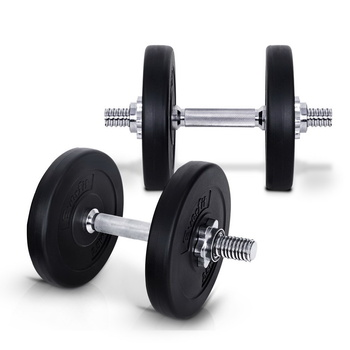 Everfit 15KG Dumbbells Dumbbell Set Weight Plates Home Gym Fitness Exercise