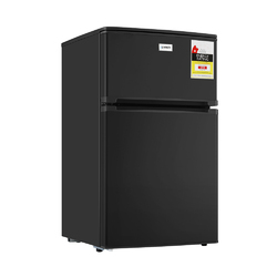 Devanti 84L Bar Fridge 2 Door Built-in Light Beverage Cooler Drink Black Fridges