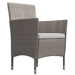 Lucia 2 Seater Rattan Outdoor Balcony Set Natural Grey