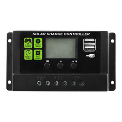 20A 12V/24V Solar Panel Battery Regulator Charge Controller LCD 20AMP PWM USB