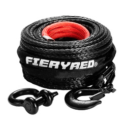 10MM X 30M Synthetic Winch Rope Dyneema Sk75 Tow Recovery Cable 4WD Car Black