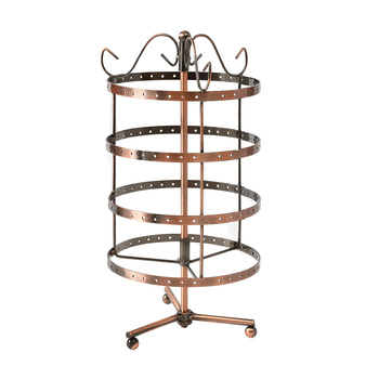 Earring Holder Stand Jewelry Display Hanging Rack Storage Metal Organizer 4 Tier