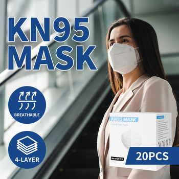 N95 KN95 Mask Face Masks Reusable Respirator Filter Disposable Anti Dust x20