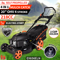 "NEW 20"" Lawn Mower Self Propelled Lawnmower 4 Stroke Petrol Mulch 218cc E-Start"