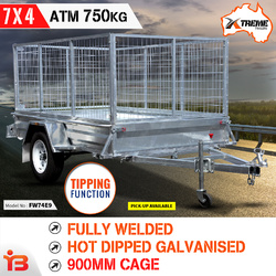 7x4 Heavy Duty Galvanised Box Trailer 750kg