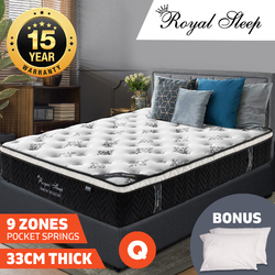 Royal Sleep 33cm Queen Size Euro Top Mattress