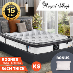 Royal Sleep 34cm King Single Latex Memory Foam Mattress
