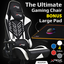 Xtreme Gaming Racing Office Chair PU Leather Computer Executive Ergonomic Seat M