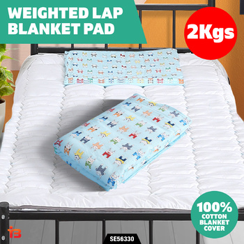 2Kgs Weighted Lap Blanket Heavy Gravity Kids Deep Relax Pad Calm Sleep Relief