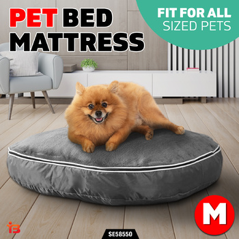 Heavy Duty Pet Dog Cat Pad Bed Mattress Mat Soft Cushion Warm Winter Medium Grey